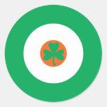 Irish Mod Round Sticker 3