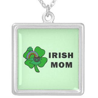 Irish Mom Square Pendant Necklace