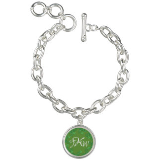 Irish Monogram Silver Charm Bracelet