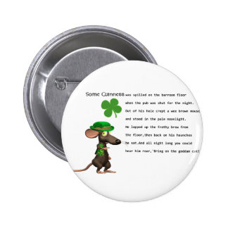 Irish Mouse drinking beer Pins