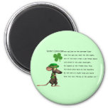 Irish Mouse drinking beer Magnet