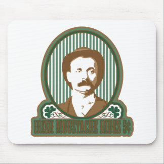 Irish Moustache Rides Mouse Pad