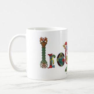 Irish Mug with Celtic Letters