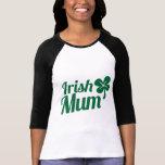 IRISH MUM ST Patricks Day design Tees