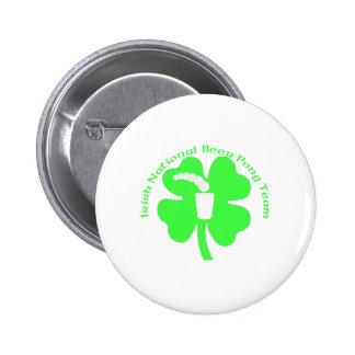 Irish National Beer Pong Team Pinback Buttons