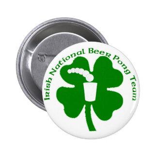 irish National Beer Pong Team Pin