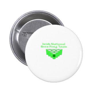Irish National Beer Pong Team Pinback Button