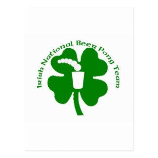 irish National Beer Pong Team Postcard