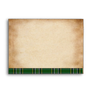 Irish National Tartan A-7 Wedding Envelope