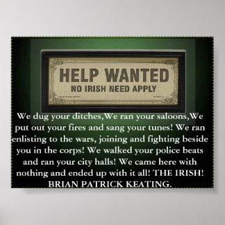 irish need not apply poster