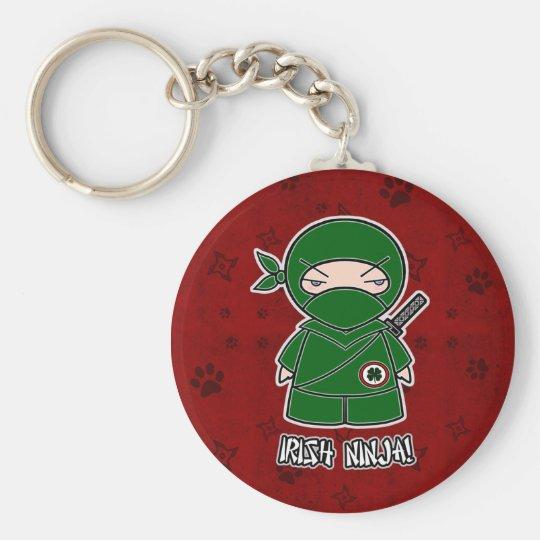 Irish Ninja! In Red Keychain