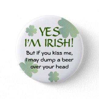 Irish No Kissing Button button