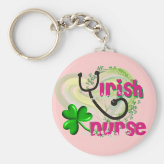 Irish Nurse Artsy Heart Gifts Keychain