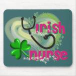 Irish Nurse Artsy Heart Gifts Mousepads