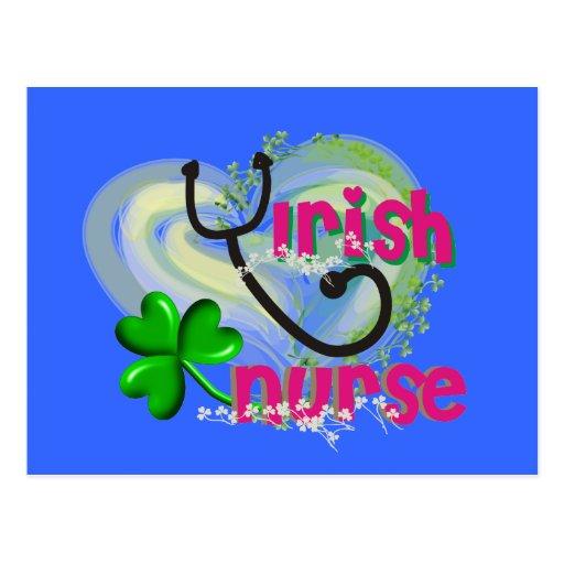 Irish Nurse Artsy Heart Gifts Postcard