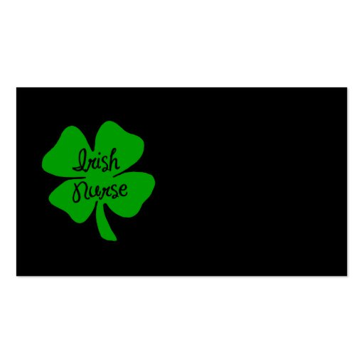 Irish Nurse Double-Sided Standard Business Cards (Pack Of 100)