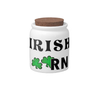 Irish Nurse RN Candy Jar