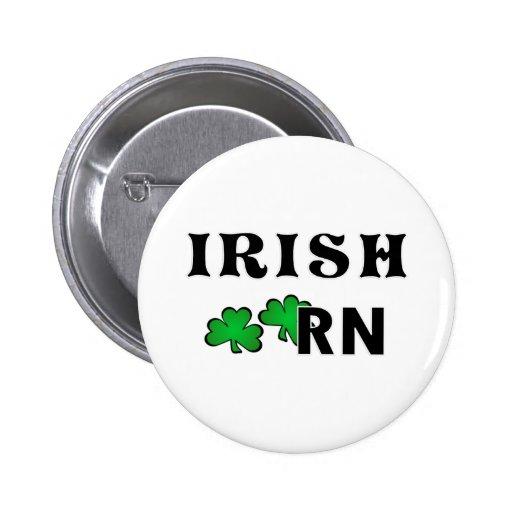 Irish Nurse RN Pinback Button