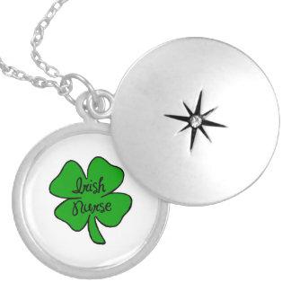 Irish Nurse Round Locket Necklace