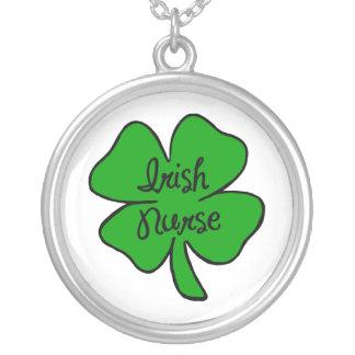 Irish Nurse Round Pendant Necklace