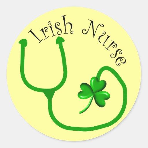 Irish Nurse T-Shirts and Gifts Round Sticker
