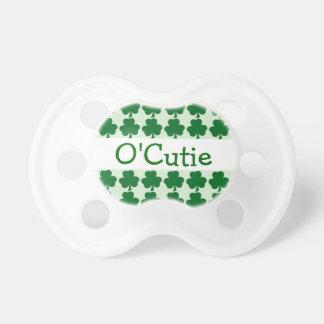 Irish O Cutie Baby Green Shamrock ver3 Baby Pacifier