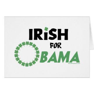 Irish Obama T-shirts and Swag Card