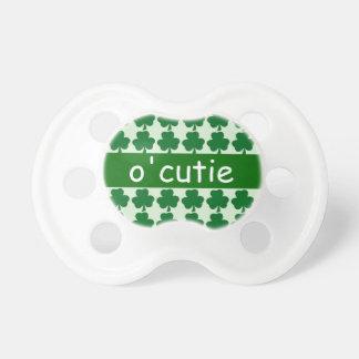 Irish O'Cutie Baby Green Shamrock ver2 Pacifiers