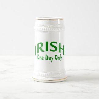 Irish One Day Only 18 Oz Beer Stein