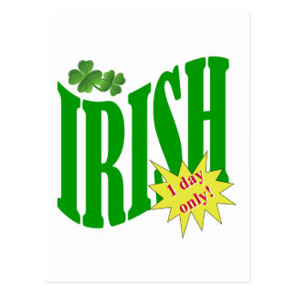 Irish one day only postcard