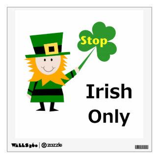 Irish Only Wall Sticker
