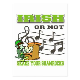 Irish Or Not Shake Your Shamrocks Postcard