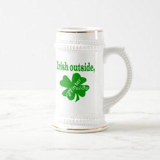 Irish outside flinter inside beer stein