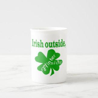 Irish outside flinter inside bone china mug
