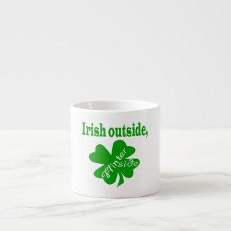 Irish outside flinter inside espresso mug