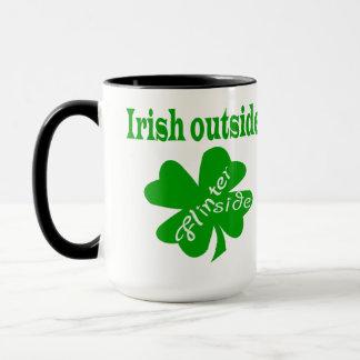 Irish outside flinter inside ringer mug