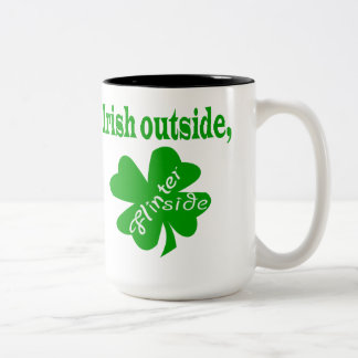 Irish outside flinter inside two-tone mug