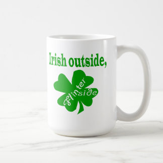 Irish outside flinter inside white mug