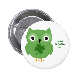 Irish Owl 2 Inch Round Button