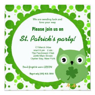 Irish Owl Card