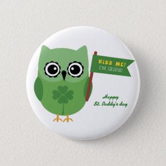 Irish Owl Pinback Button