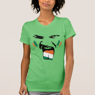 Irish Painted Fan Female Face T-Shirt