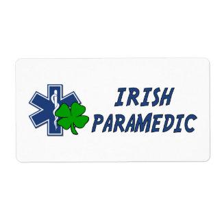 Irish Paramedic Custom Shipping Label