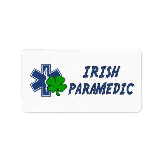 Irish Paramedic Address Label