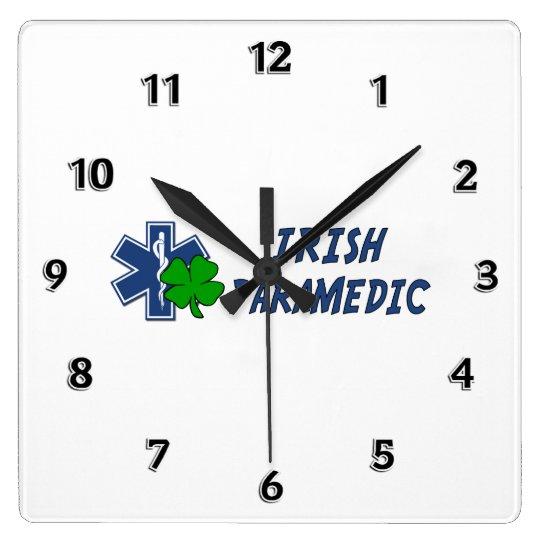 Irish Paramedics Square Wall Clock