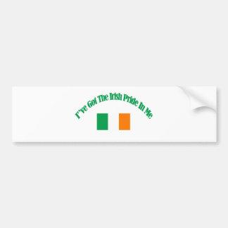 Irish patriotic flag designs bumper sticker