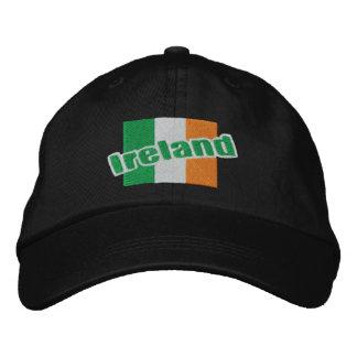 Irish Patriotic Ireland Flag And Text Embroidered Baseball Hat
