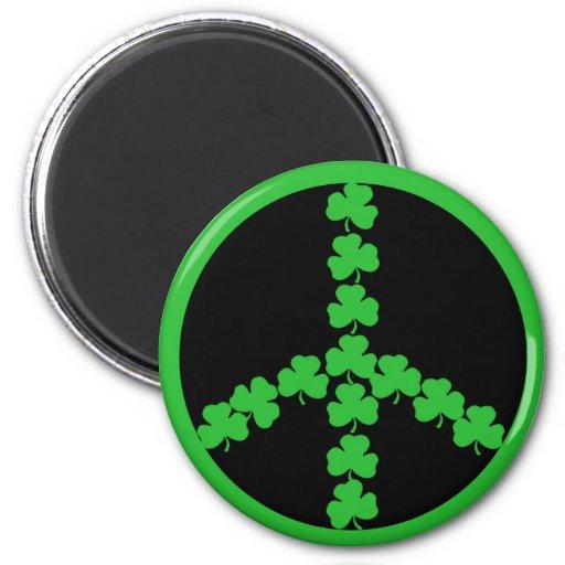 Irish peace shamrock fridge magnets
