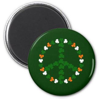 Irish peace sign 2 inch round magnet