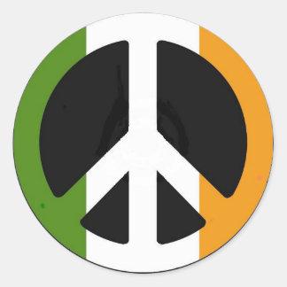 Irish Peace Sign Classic Round Sticker